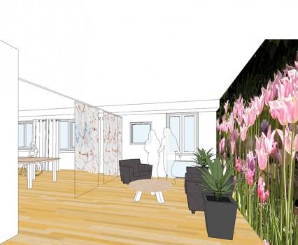 Concept huiskamers: in bloei