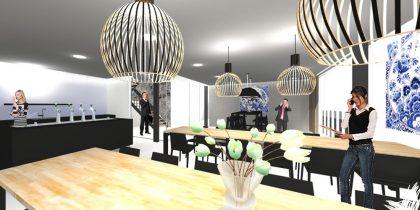 Interieurontwerp verbouwing kantoorpand